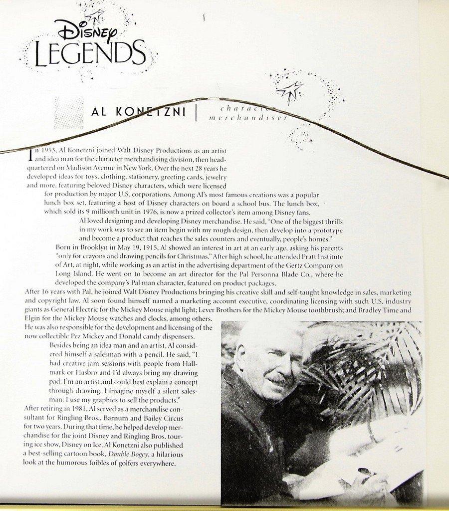 Al Konetzni Disney Legend - 4