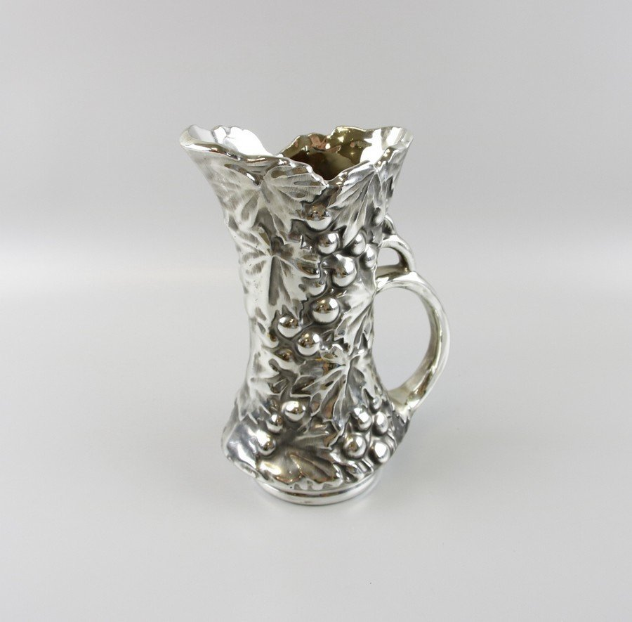 McCoy Pottery Silver Pitcher