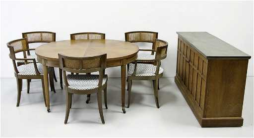 Henredon Dining Room Table With Slate Top Buffet
