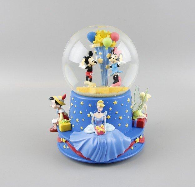 Disney Mickey Minnie Mouse Snow Globe Music Box