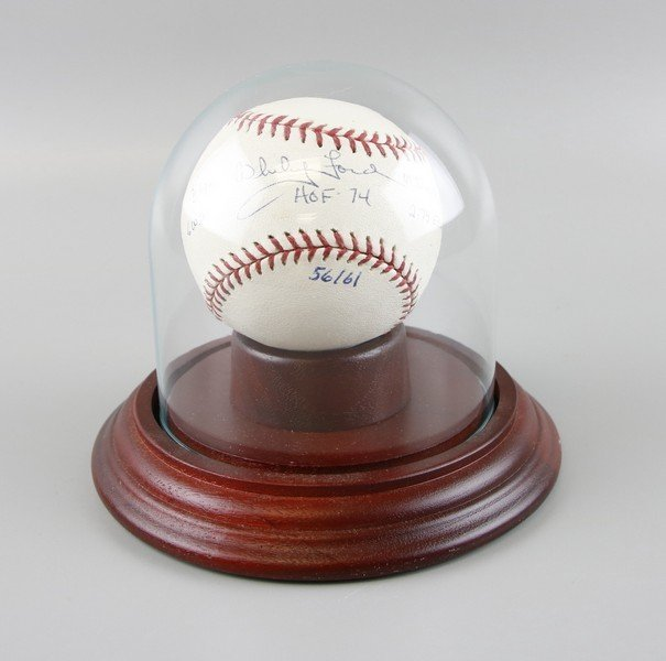 Signed Whitey Ford Baseball