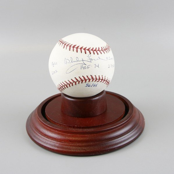 Signed Whitey Ford Baseball - 2