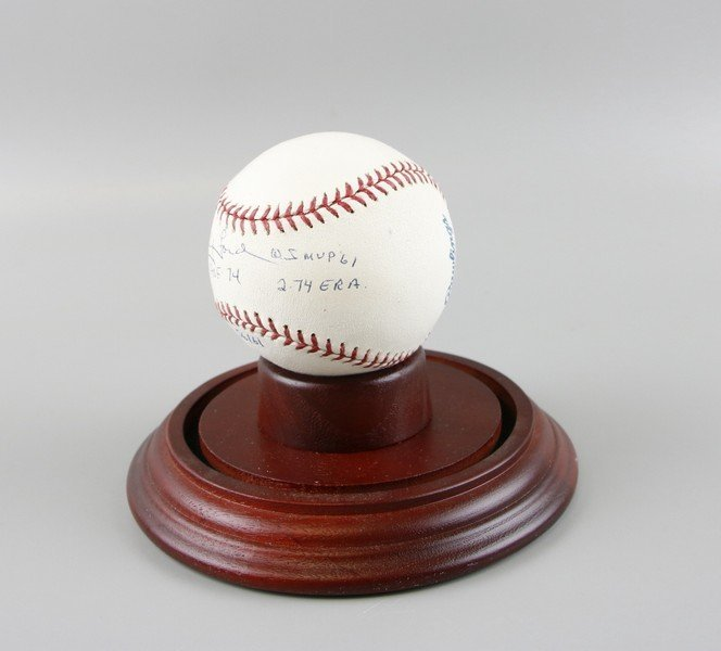 Signed Whitey Ford Baseball - 4