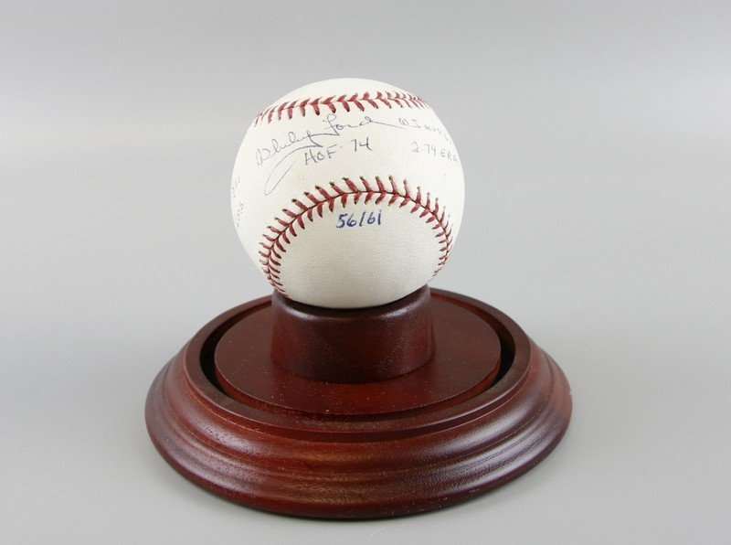 Signed Whitey Ford Baseball - 5