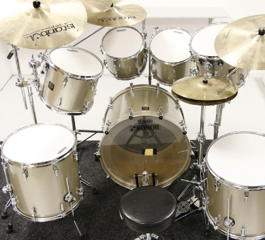 Sonor Drum Set - Seven piece with five Istanbul Cymbals