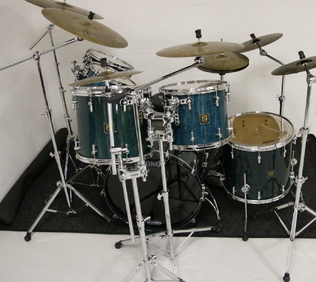 Sonor Drum Set - Six piece with Seven Istanbul Agop