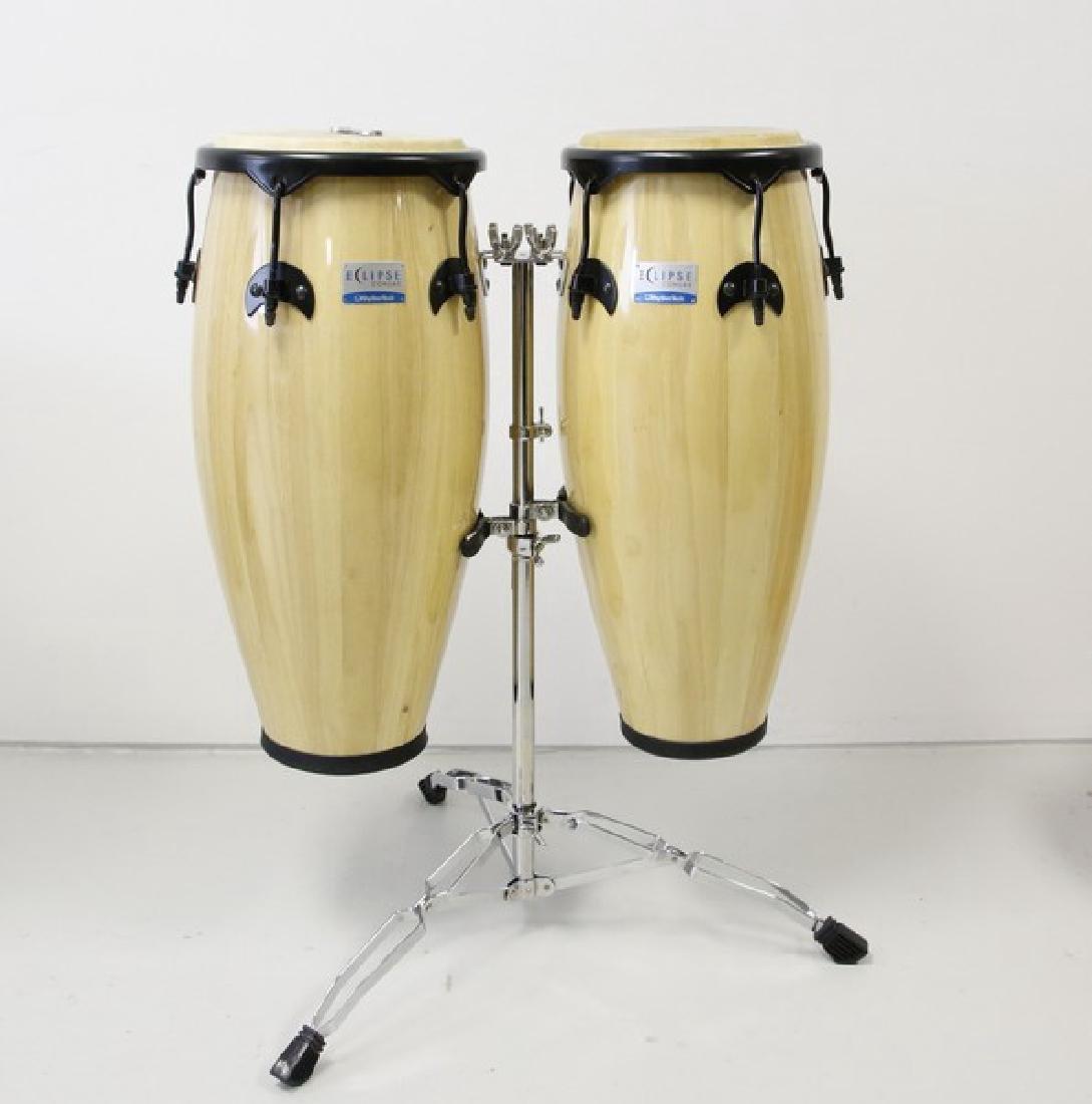 Rhythm Tech Eclipse Conga Drum Set on Stand