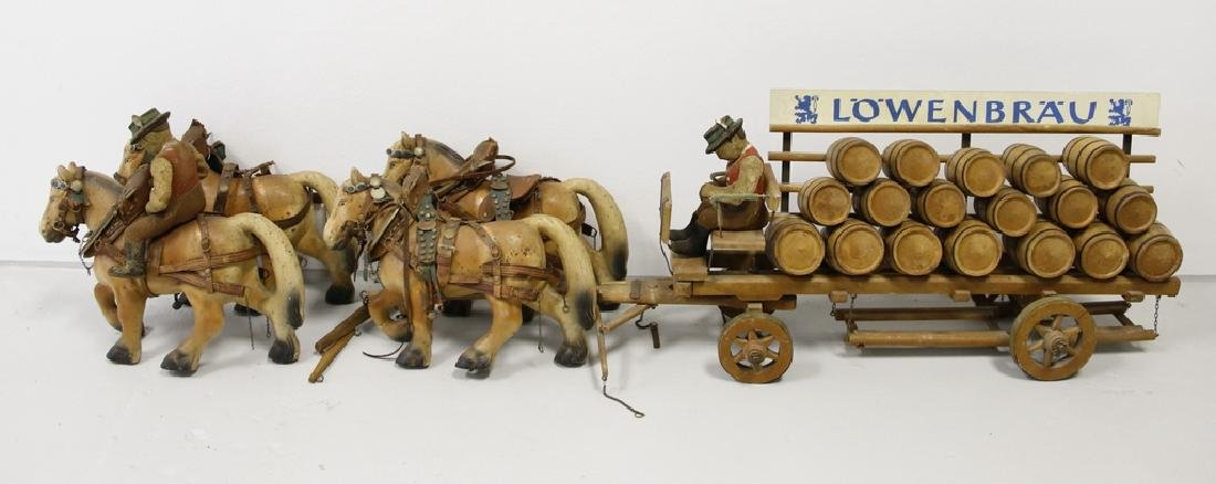 Lowenbrau Horse & Wagon German Beer Advertisement