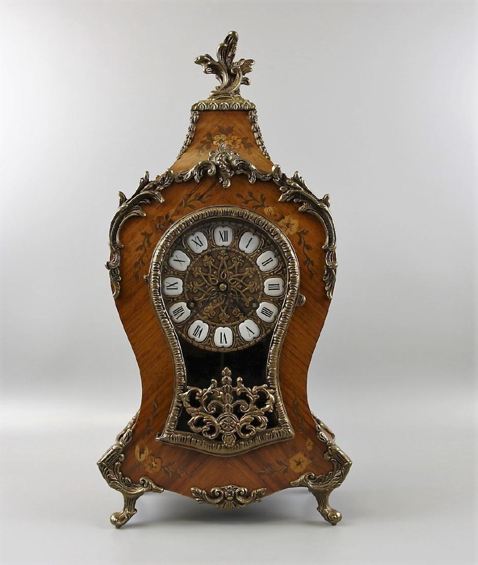 Boulle Gilded Mantel Clock