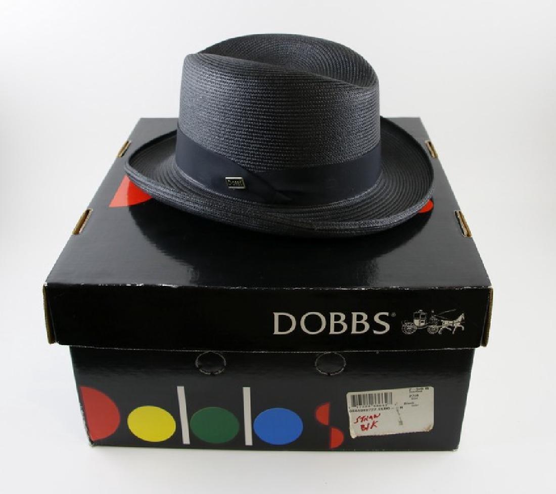 Hat - Dobbs Black Straw Hat