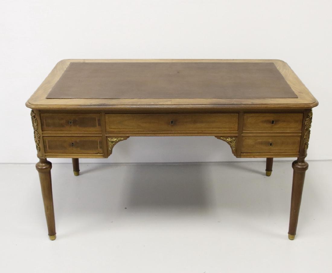 Louis XVI Walnut Style Writing Desk