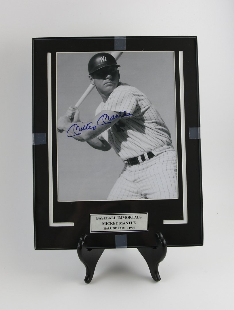 Mickey Mantle Autographed Picture