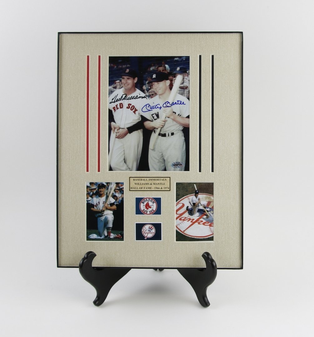 Mickey Mantle & Ted Williams Autographed Picture