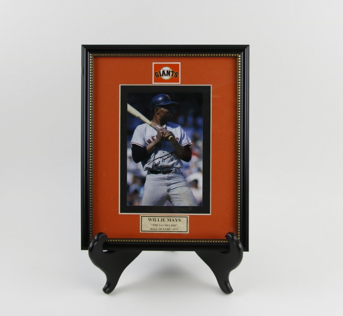 Willie Mays Autographed Picture