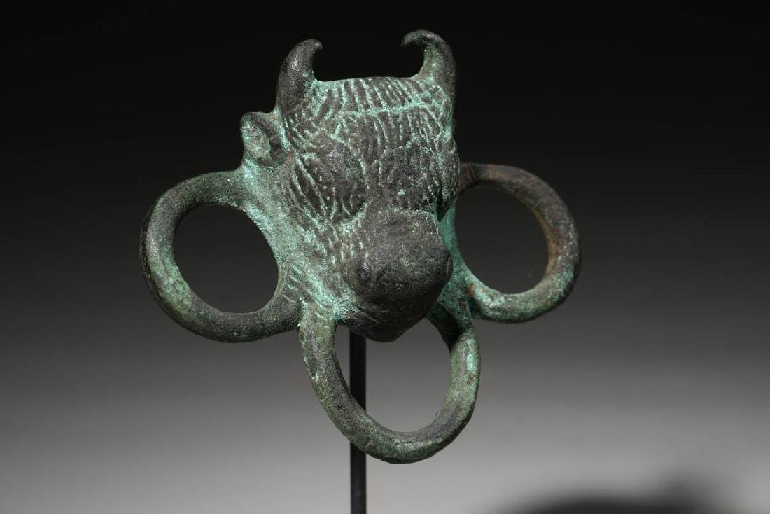 Roman Bronze Bull Applique