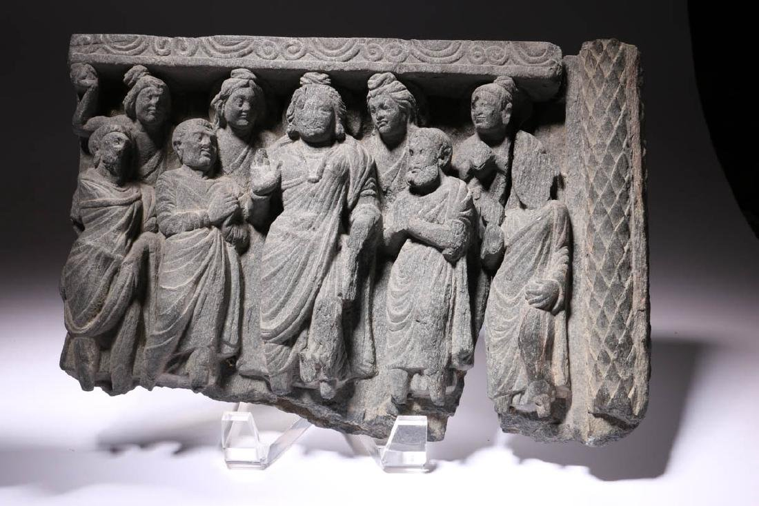 Gandharan Grey Schist Frieze