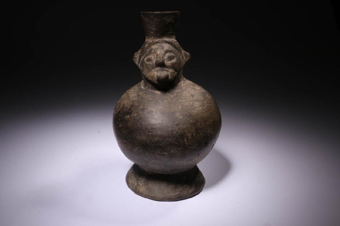 Pre-Columbian Moche Blackware Vessel