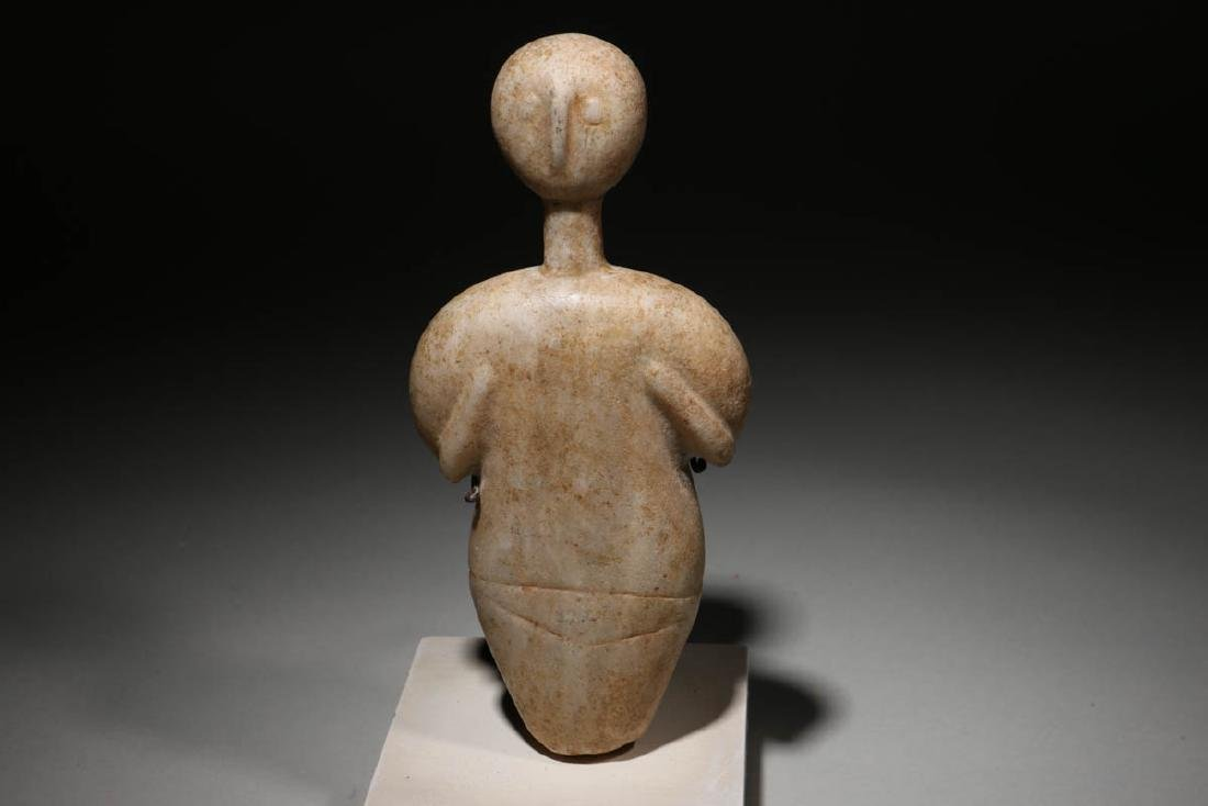 Bactrian White Stone Idol