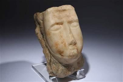 Sabean Alabaster Head