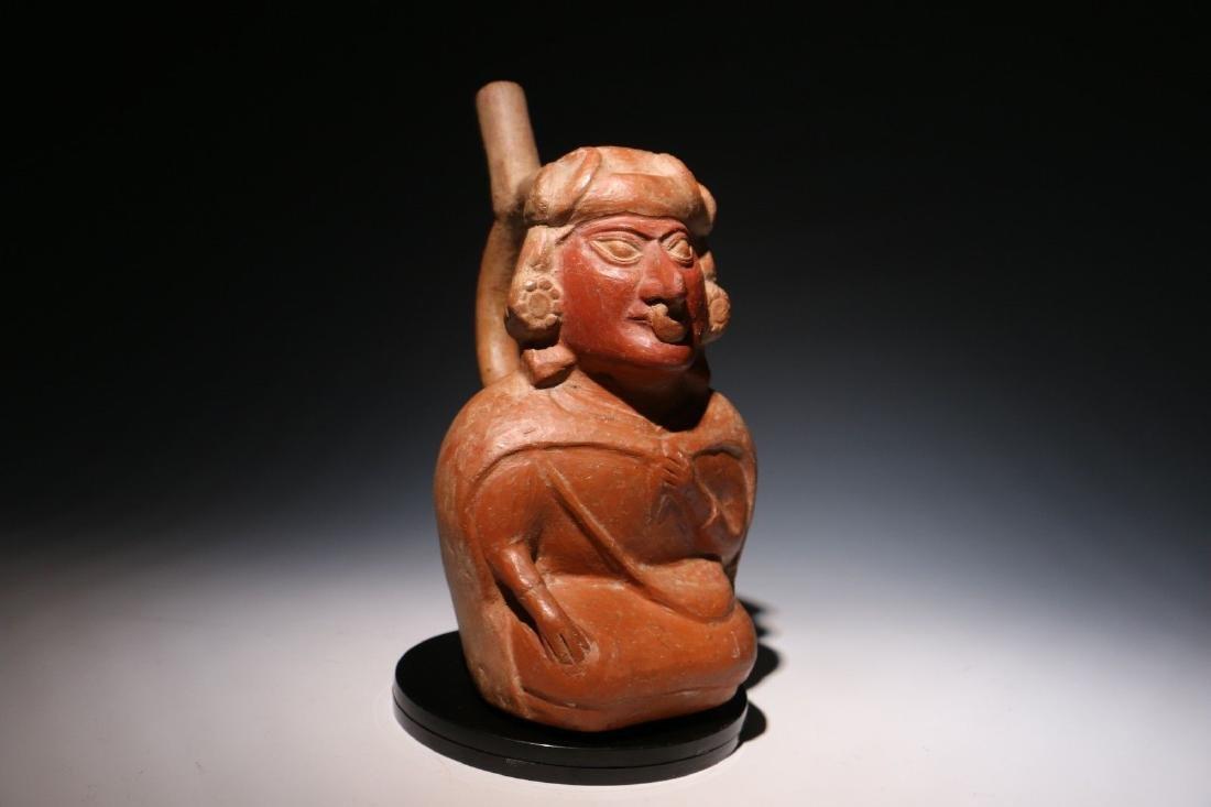 Pre-Columbian Moche Nobleman Stirrup Vessel - 2