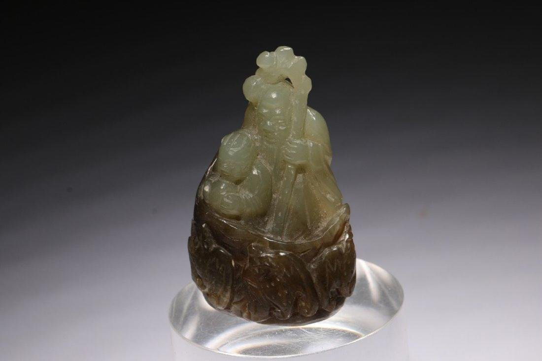 Chinese Jade Carving of Shou Xing - 2