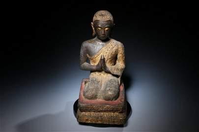 Rattanakosin Bronze of a Seated Disciple