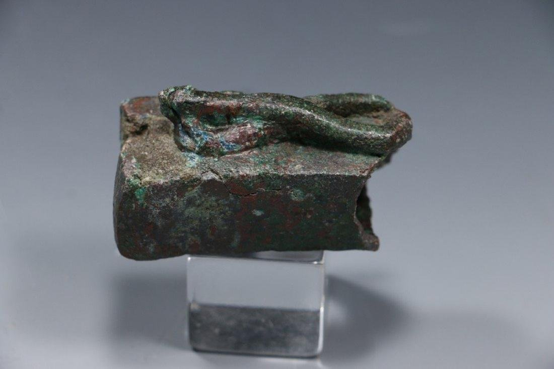 Egyptian Bronze Lizard Coffin ca. Late Period - 3