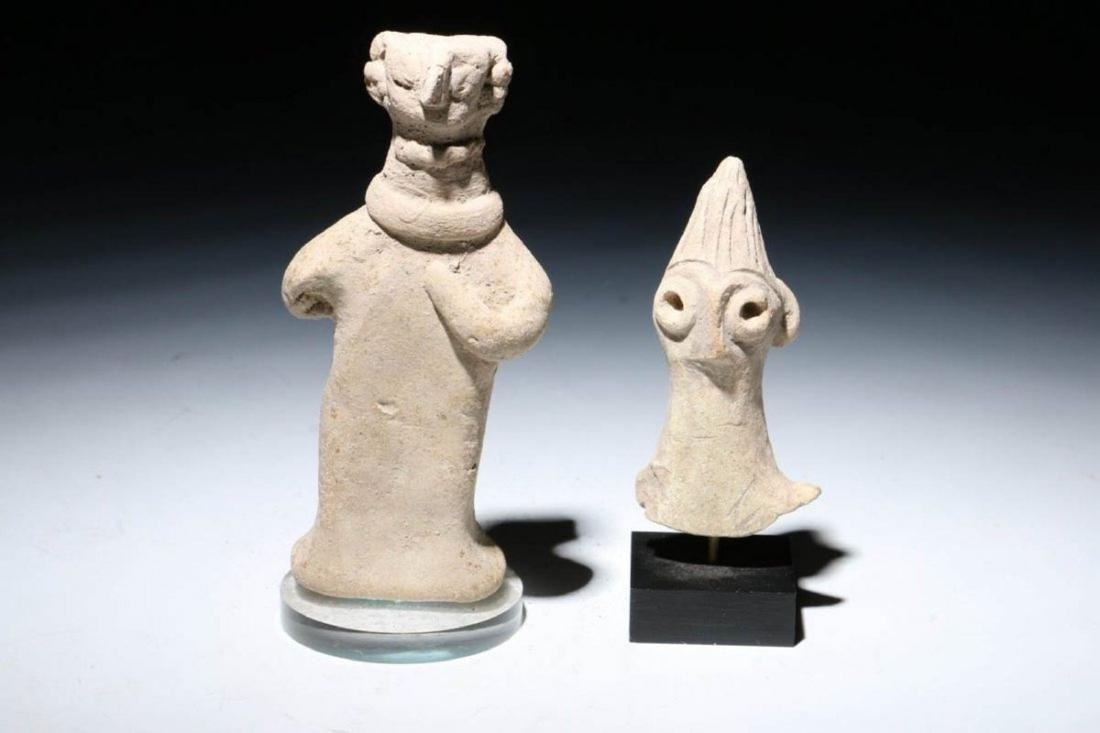 ANCIENT SYRO HITTITE FIGURINES Lot of Two