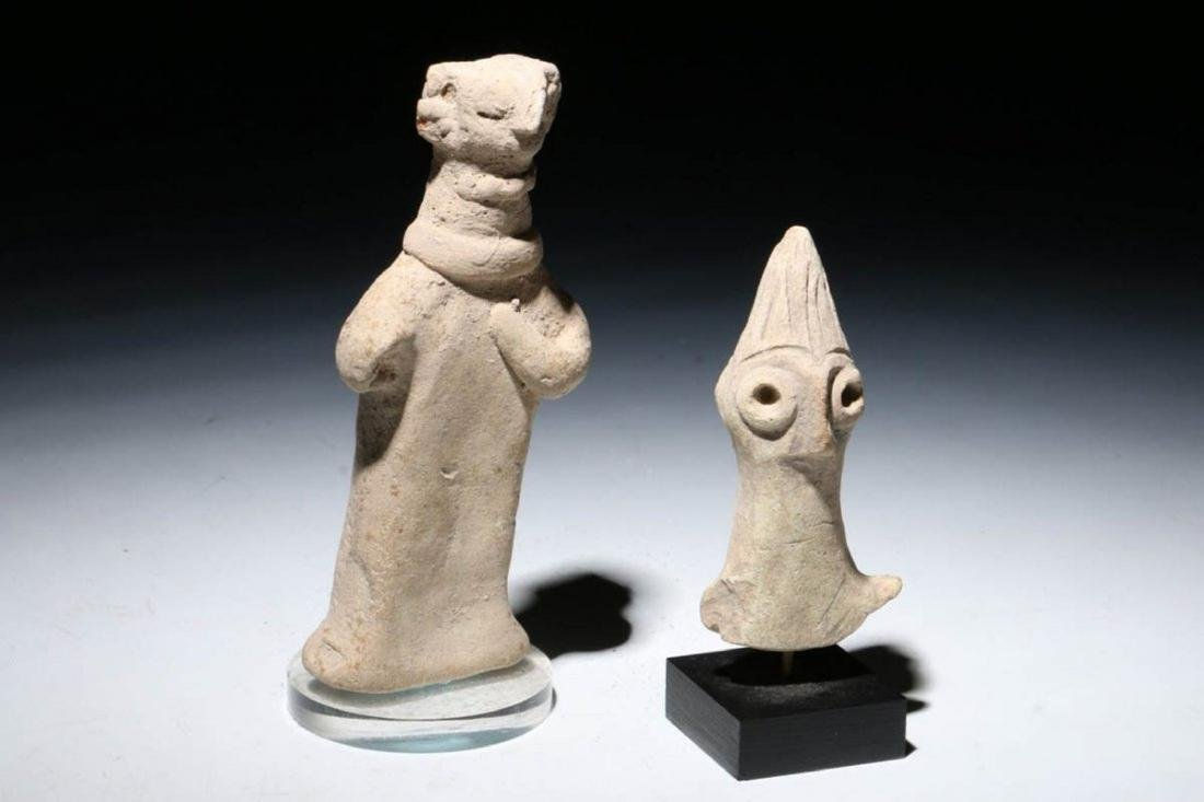 ANCIENT SYRO HITTITE FIGURINES Lot of Two - 3