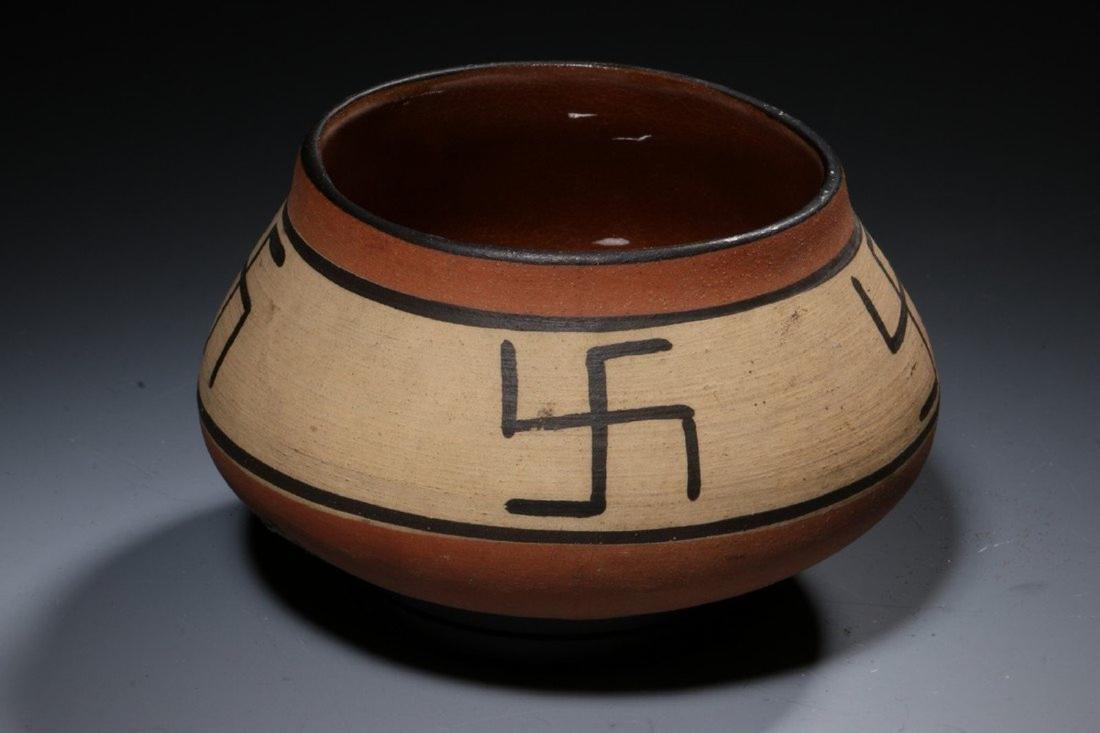 Native American Swirling Log Bowl