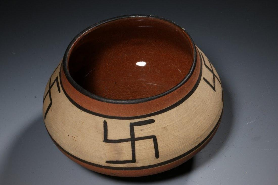Native American Swirling Log Bowl - 5