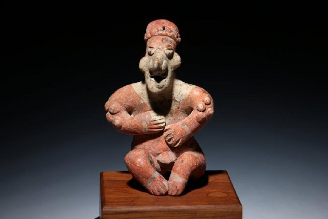 Pre-Columbian Colima Seated Flat Figure
