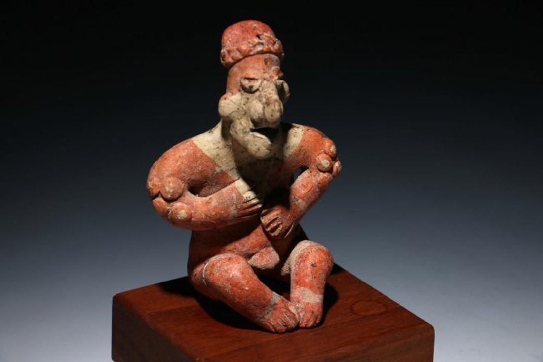 Pre-Columbian Colima Seated Flat Figure - 2