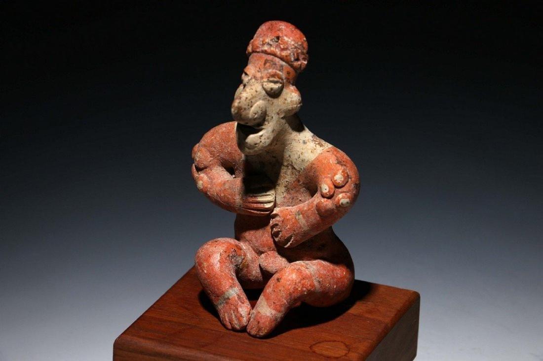 Pre-Columbian Colima Seated Flat Figure - 3