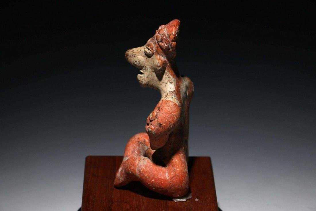 Pre-Columbian Colima Seated Flat Figure - 4