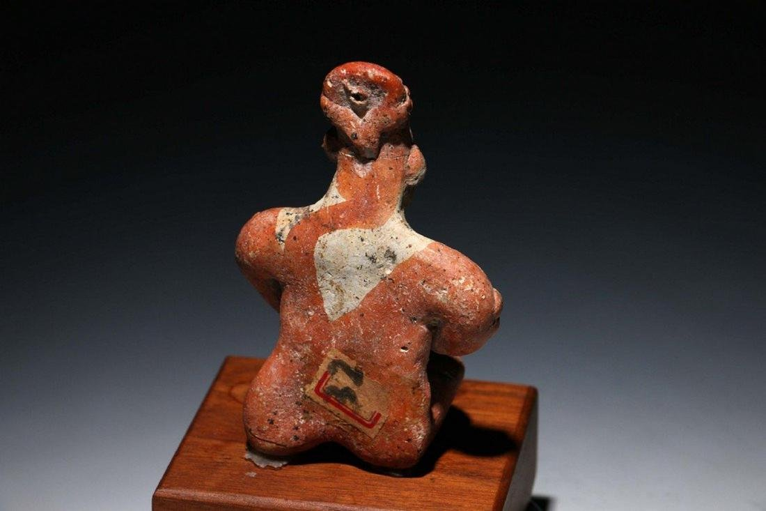Pre-Columbian Colima Seated Flat Figure - 6