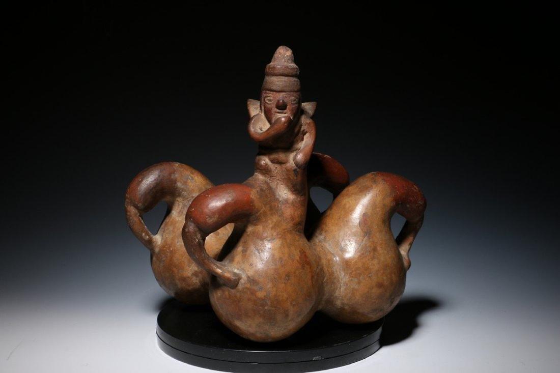 Pre-Columbian Lambayeque Stirrup Vessel 700 – 1500