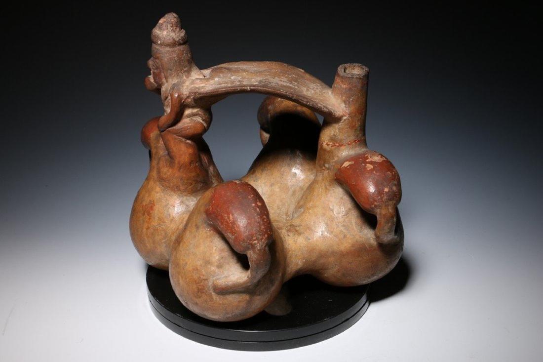 Pre-Columbian Lambayeque Stirrup Vessel 700 – 1500 - 4