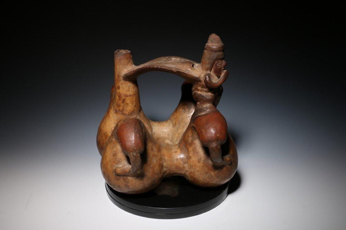 Pre-Columbian Lambayeque Stirrup Vessel 700 – 1500 - 6