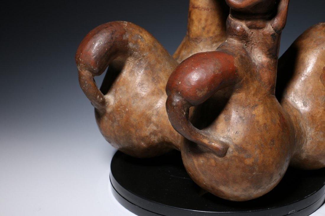 Pre-Columbian Lambayeque Stirrup Vessel 700 – 1500 - 8