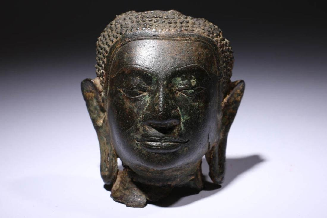 Bronze Buddha Head Fragment