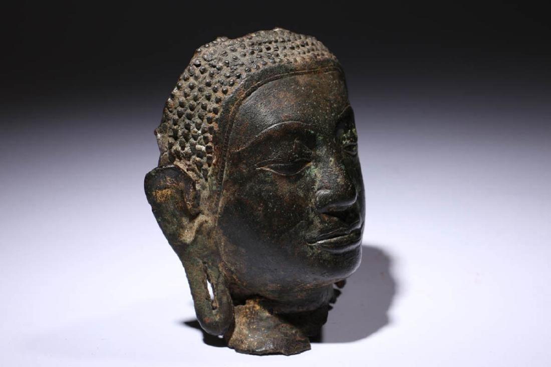 Bronze Buddha Head Fragment - 2