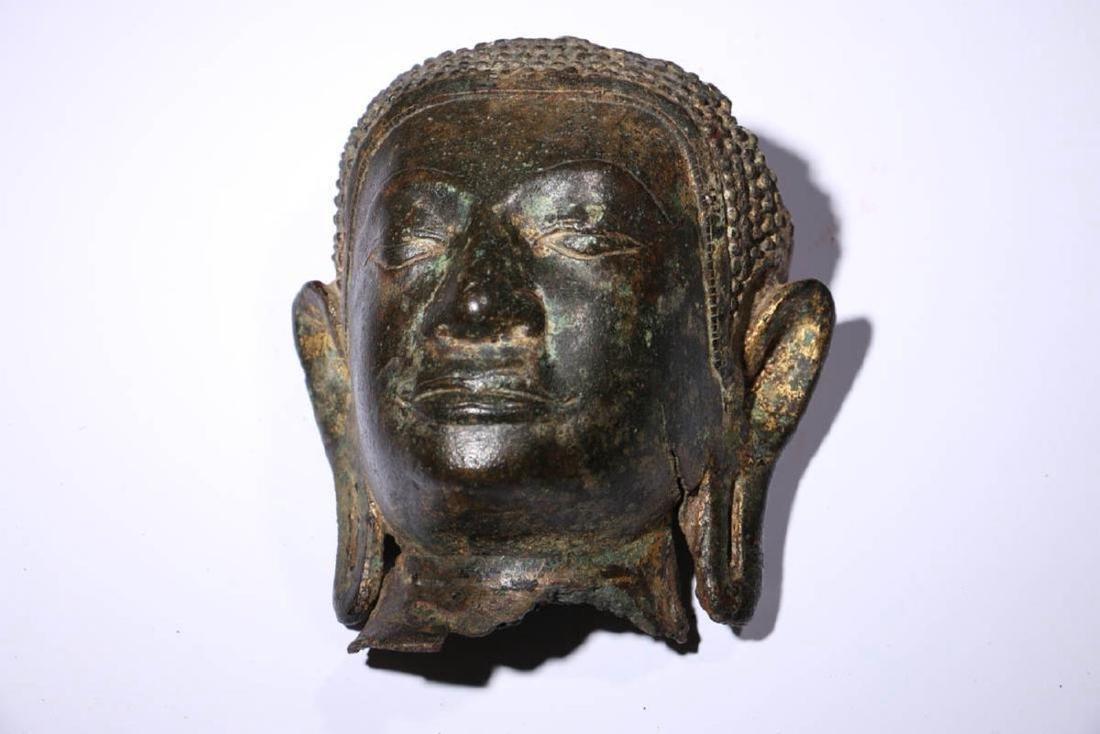 Bronze Buddha Head Fragment - 4