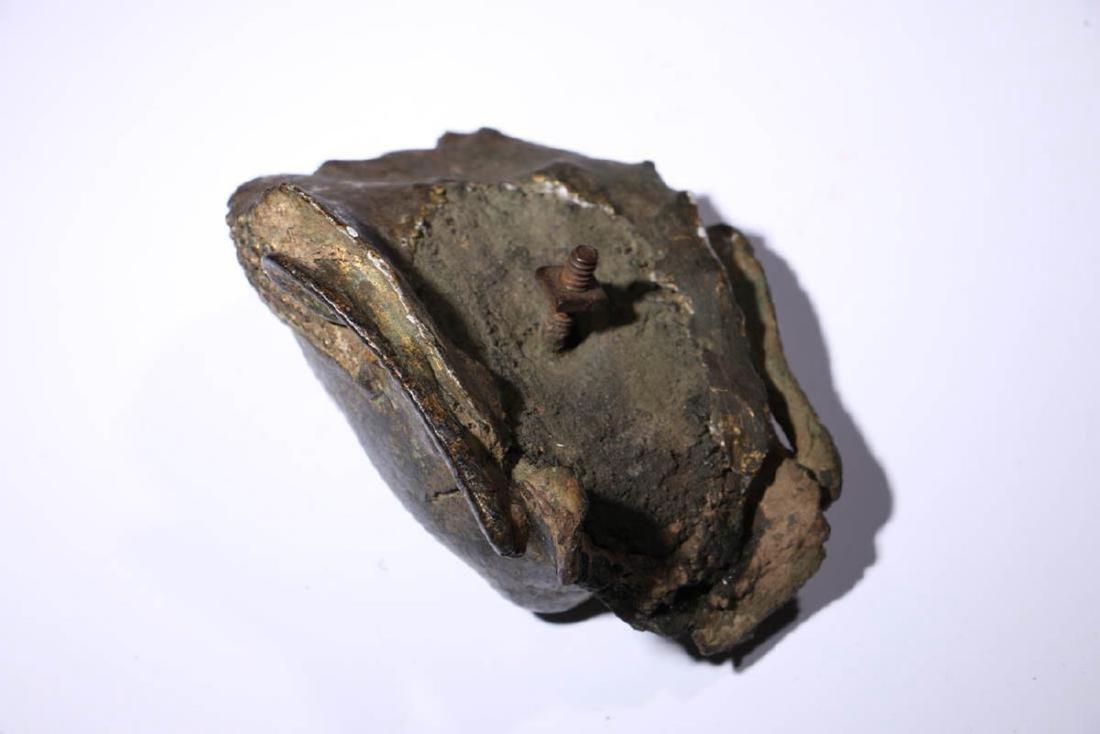 Bronze Buddha Head Fragment - 5