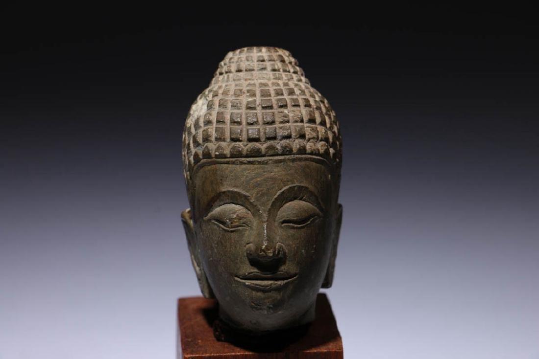 Small Stone Buddha Head - 2