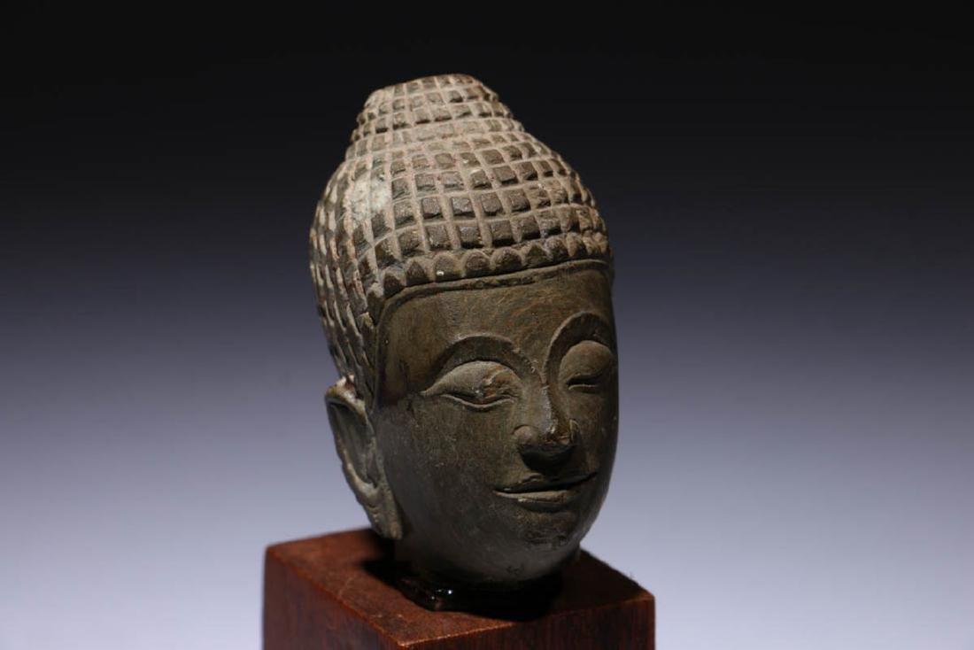 Small Stone Buddha Head - 3