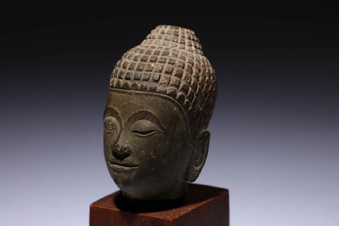 Small Stone Buddha Head - 4