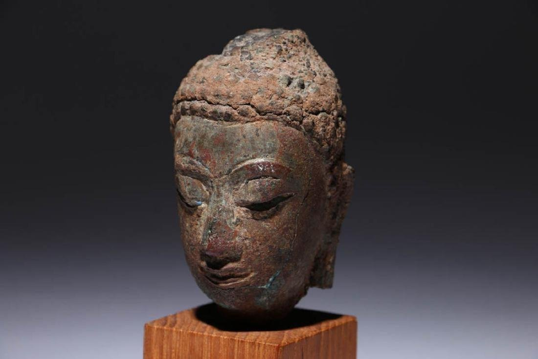 Bronze Buddha head - 3