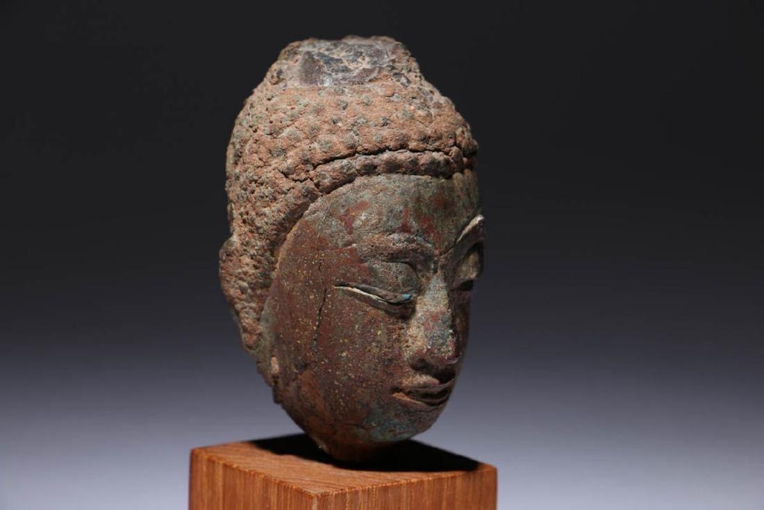 Bronze Buddha head - 4