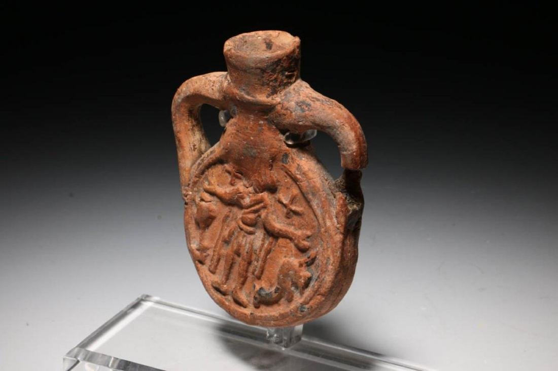 Terracotta Pilgrim Flask, Coptic Egypt ca. 480 - 650 - 2